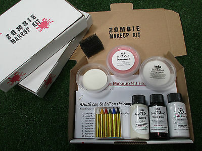 Premium Zombie Makeup Kit Special Effects Horror Scary Halloween Walking Dead