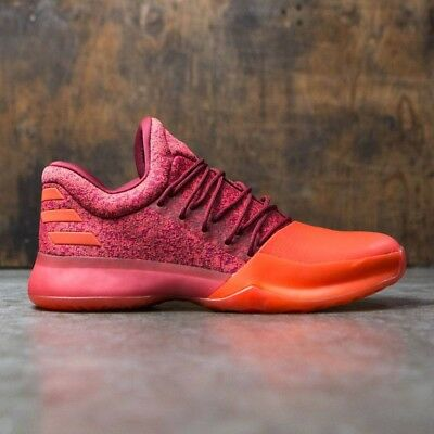 Adidas Basketball James Harden Vol 1 Red Orange Shoes Boost New Men