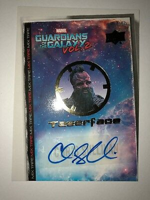 GUARDIANS OF THE GALAXY Mixtape AUTO AUTOGRAPH CHRIS SULLIVAN AS TASERFACE MT6