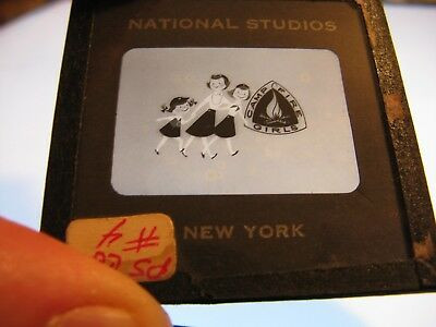 """GIRL SCOUTS """"Campfire Girls"""" 1960's NBC TV Promo~ORIGINAL Animation Transparency"""