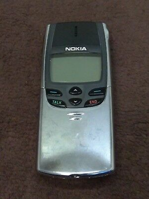 Nokia 8860 Mobile Cell Phone Original Chrome w charger-Untested, needs a battery