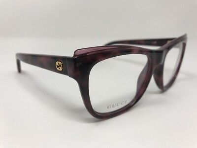 fd180227c8e Gucci Gg 3783 M04 Purple Havana Eyeglasses Authentic Frame Rx Gg3783 52-17  X445