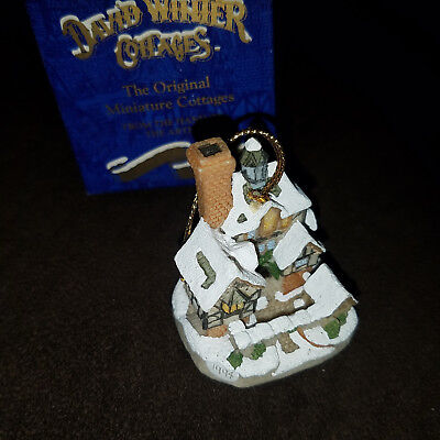 David Winter Cottages Scrooge Family Home ornament (old store stock in box)
