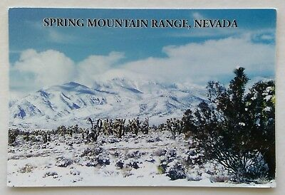 Nevada Spring Mountain Range 2000s Postcard (P336)