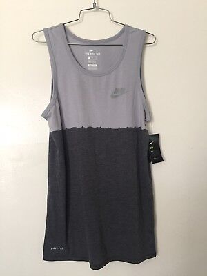 db0d9f8c363ef NIKE MENS RUNNING Tank Top DRI-FIT Gray Dark Gray Small NWT -  12.00 ...