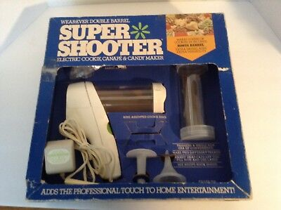 Genuine Double Barrel Wear-Ever Super Shooter Electric Cookie Press (Complete)