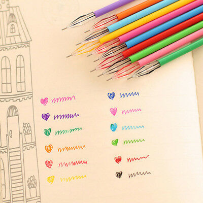 12 Colors Students Cartoon Fresh Star Color Cute Gel Pen Refill Study Stationery