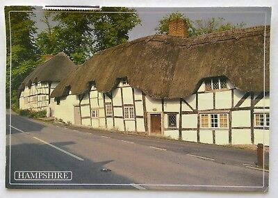 Thatched Cottages Wherewell Village Hampshire 2011 Postcard (P336)