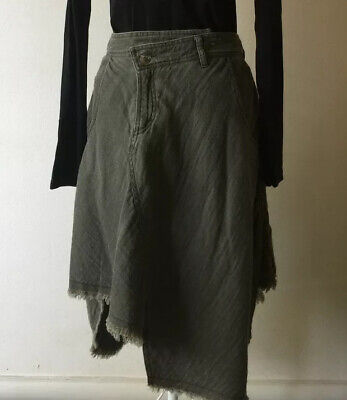 Deconstructed Kaki Skirt Size S by Initial Hong Kong