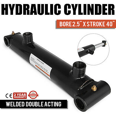 "Hydraulic Cylinder 2.5""Bore 40"" Stroke Double Acting garden 3000 PSI excellent"