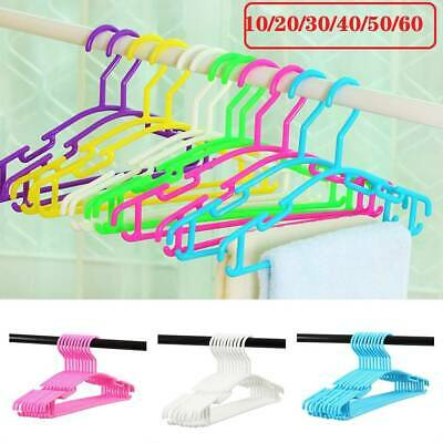10/20/30/40/50/60x Coloured Children Kids Coat Hangers Child Baby Clothes Hanger