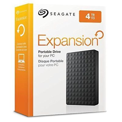 Seagate Expansion 4 To Disque Dur Externe 4 TB USB 3.0 NEUF PC MAC PS4 Xbox One