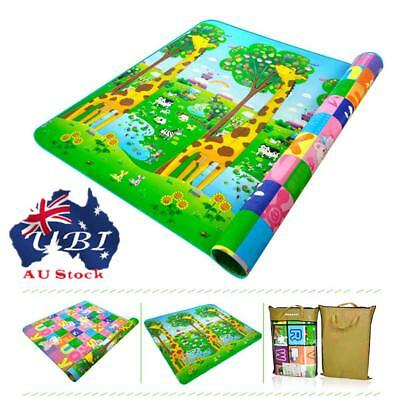 2*1.8m Baby Kids Floor Play Mat Rug Picnic Cushion Crawling Mat Waterproof AU!