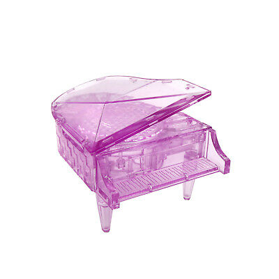 3D Decoration Model Toy Crystal Puzzle Game Toy Piano with Music Box-Pink