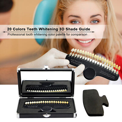 3D R-20 Professional Dental Tooth Teeth Whitening Shade Guide 20 Color