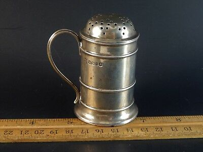 Rare Sterling Silver Pepperette Gibson and Langman Goldsmiths Regent St  1887