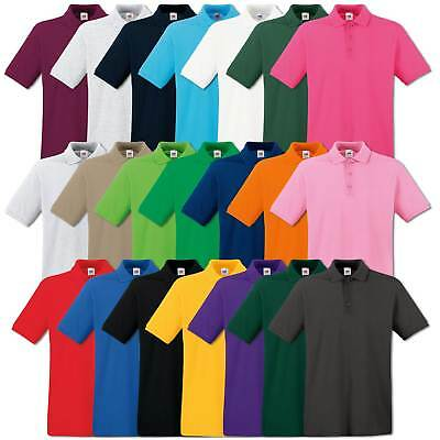 Fruit of the Loom Poloshirt Premium Polo 100% Baumwolle Shirt S M L XL XXL 3XL