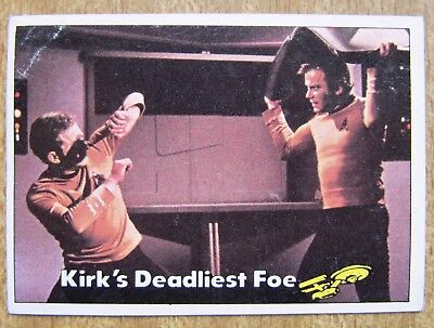 1976 Topps/Scanlens Star Trek Card:  CAPTAIN'S  LOG  ....  #11  +  Free Post
