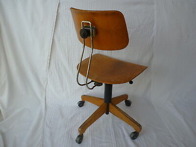 AMA Elastik Holz Drehstuhl Architektenstuhl Industrie Wood Architect Chair Loft