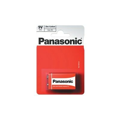 2x Panasonic 9V Zinc Carbon Batteries - PP3 (MN1604 / 6F22 / 6LR61) - Pack of 2