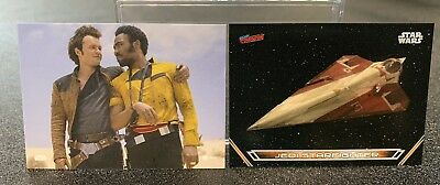 NYCC Topps Promo Trading Card Set (2) Solo / Starfighter New York Comic Con 2018