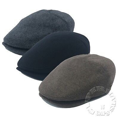 Men's 100% Premium Wool Newsboy Cabbie Paperboy Golf Snap Bill Ivy Hat Cap