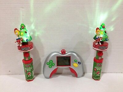 M&M's 2 Candy Holder Christmas Tree with Sounds Lights + Game!
