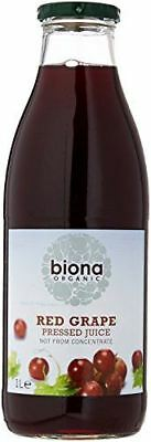 Biona Organic Red Grape Pressed Juice Not from Concentrate 1L