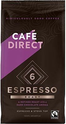 Cafedirect Espresso Blend Organic and Fairtrade Coffee Beans, 227 g