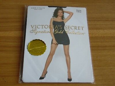ffa228ed8b Victoria s Secret Signature Gold Collection Sheer to waist Vitality black  large