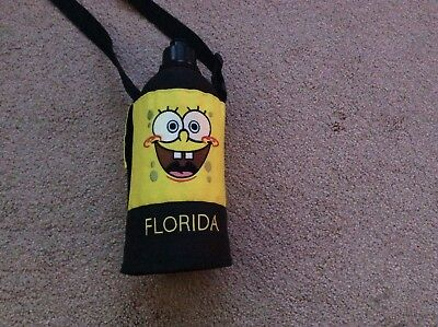 Spongebob Squarepants Florida Water Bottle with removable cover, strap. From US