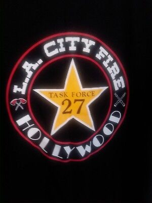Los Angeles City Fire Department HOLLYWOOD Task Force 27 T SHIRT NEW L Large