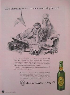 1942 BALLANTINE XXX ALE Full-Page Color Ad Purity Body Flavor Newark New Jersey