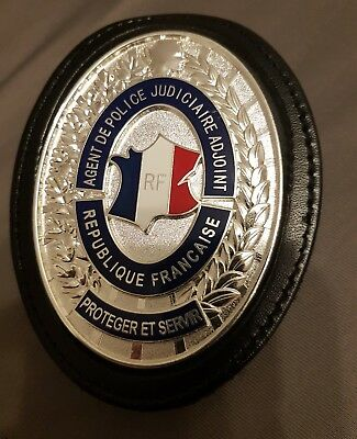 Insigne RF French Police Badge AGENT DE POLICE JUDICIAIRE ADJOINT Polizei