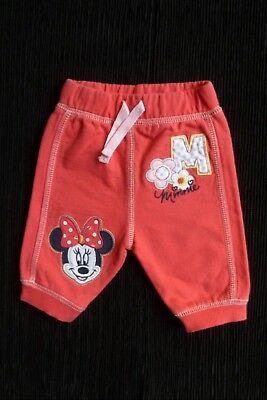 Baby clothes GIRL newborn 0-1m Disney Minnie Mouse jogging trousers coral pink