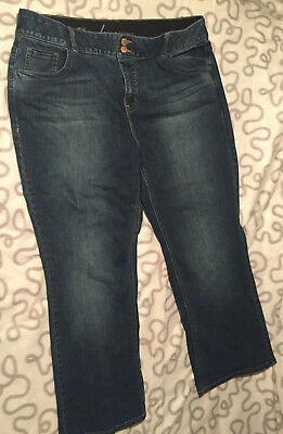 Womens Lane Bryant Jeans 20 Short Bootcut with Tighter Tummy Technology