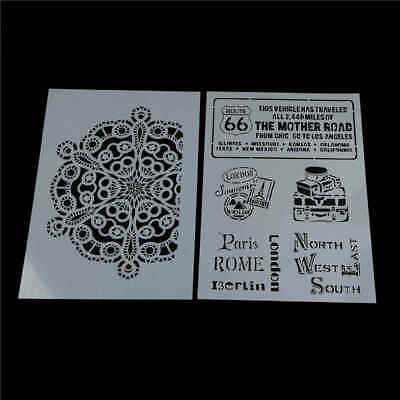 road layering stencils for wallpainting scrapbooking stamping stamp albumdecorGX