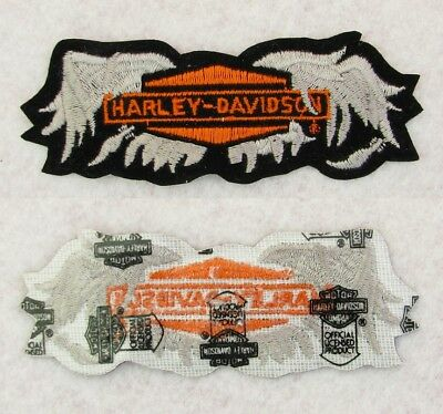 """Real Deal Vintage 1970's - 80s USA 4"""" Made By HARLEY DAVIDSON Broken Wings Patch"""