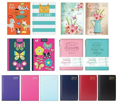 2019 A6 Diary Week To View hardback Fashion Diary Planner Organiser