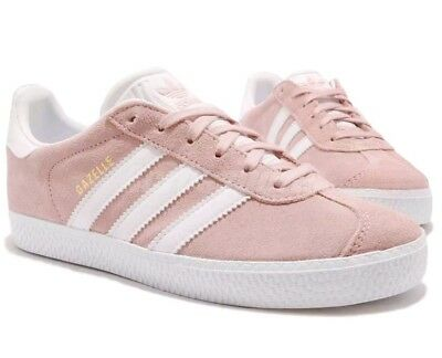 Adidas Gazelle C Little Kid's Shoes Ice Pink/white/gold By9548