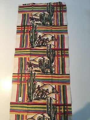 vintage kitchen, 1940s fabric, cowboys, covered wagons, cactus and great colors