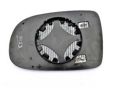 Audi A4 2000-2008 right driver off side convex mirror glass 6RS