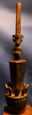 "African Sculpture Older Hardwood 18"" Tall"