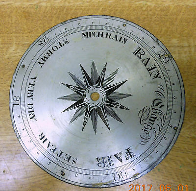 antique used weather dial.