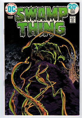 Swamp Thing #8 8.5 High Grade Wrightson Cover 1973 White Pages