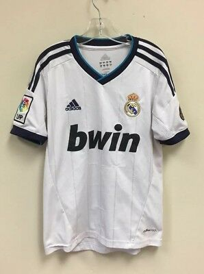 buy popular 2035a f8f2a 2012 REAL MADRID Football Club Soccer Pinstripe Jersey Size Youth Small  White