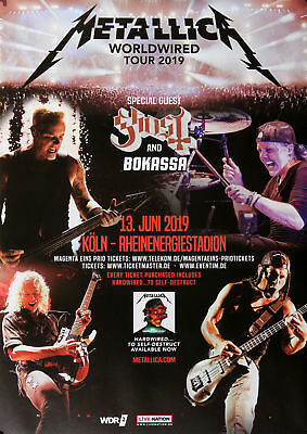 Metallica - Worldwired, Köln 2019 | Konzertplakat | Poster
