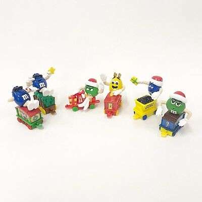 M&M's Characters Collectible Christmas Holiday Train 6 Pieces A3