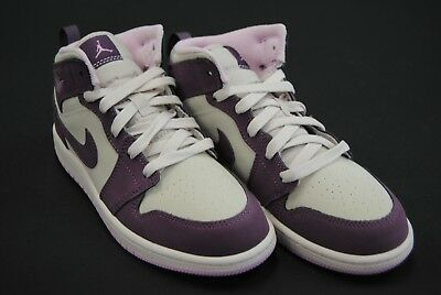 [640737 500] New Kid's Air Jordan 1 Mid Ps Pro Purple Desert Sand Jk3559