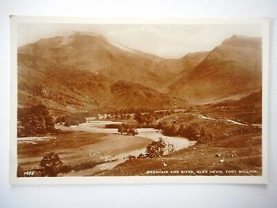 Postcard - Scotland - Fort William - Glen Nevis - Mountain and River - Unposted